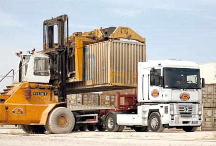 contanier trasporto merci
